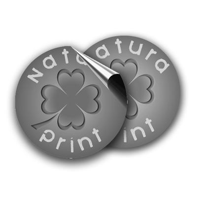Adhesivos redondos (10) escala de grises