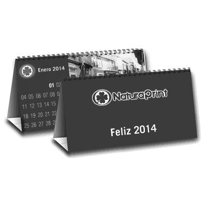 Calendarios barraca mensual escala de grises
