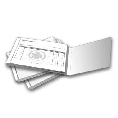 Talonarios A4 triplicados escala de grises