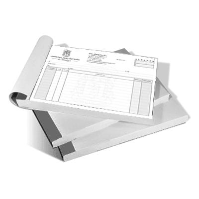 Talonarios A4 100 hojas escala de grises