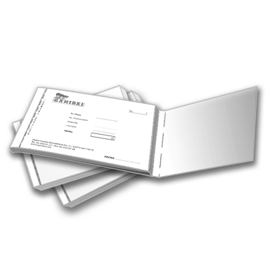 Talonarios A4 duplicados escala de grises