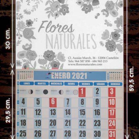 Calendarios faldilla (43,5) escala de grises