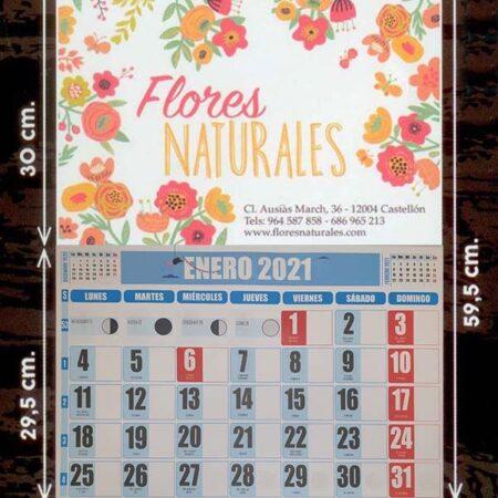 Calendarios faldilla (43,5) color