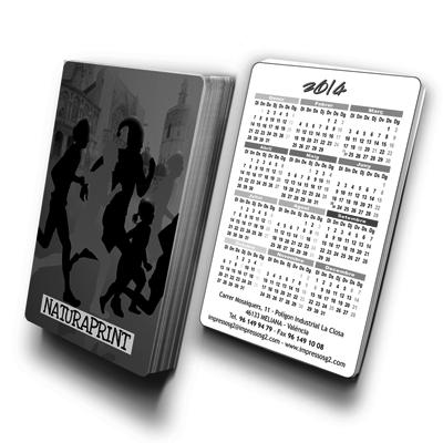 Calendarios bolsillo escala de grises