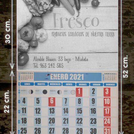 Calendarios faldilla (33,5) escala de grises