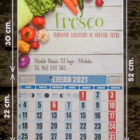 Calendarios faldilla (33,5) color